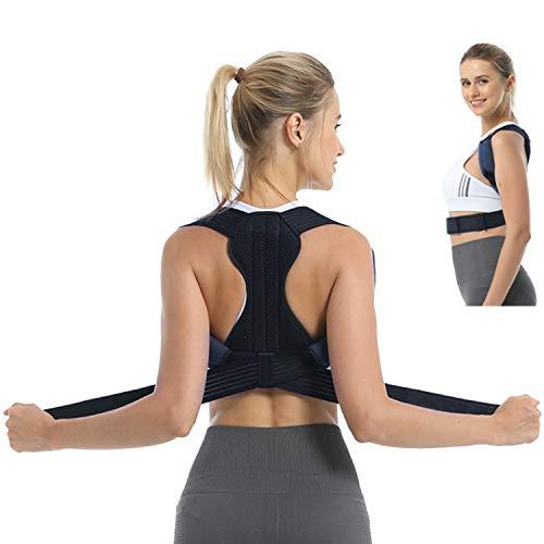 BRZSACR Rücken Geradehalter für Frauen Männer, Professionell Komfortable Rücken Haltungstrainer - Starke Korrekturkraft,Verdickte Schulterpolster,Doppelter Stützkorrekturgürtel auf dem Rücken