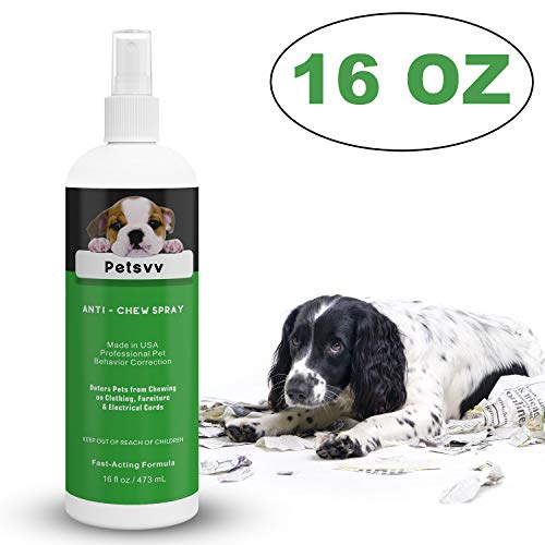 Anti Chew Spray Deterrent for Dogs, No Chew Pet Training Corrector to Stop Biting | Non-Toxic | Alcohol Free | Made in USA - 16oz