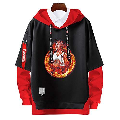 Sudaderas con Capucha de klay thompson #11,#goldenState # warriors Pullover Uniforme de Baloncesto Fans Camisetas de Entrenamiento,Moda Casual, sin Deformación,para Hombre y Mujer,Red-XXL