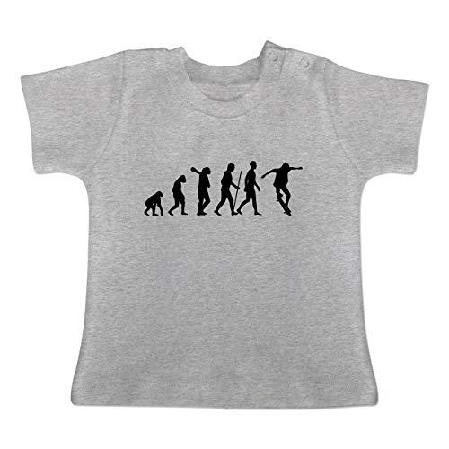 Evolution Baby - Skateboard Evolution Ollie - 3/6 Monate - Grau meliert - BZ02 - Baby T-Shirt Kurzarm