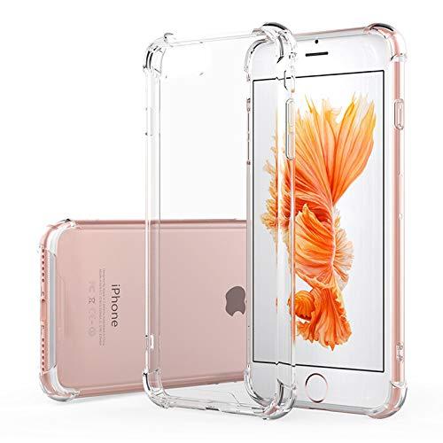Hually Funda iPhone 6S plus,Funda iPhone 6S plus Crystal Carcasa Silicona Transparente Protector Airbag Anti-Choque Ultra-Delgado Anti-arañazos Case para Teléfono Apple iPhone 6S plus