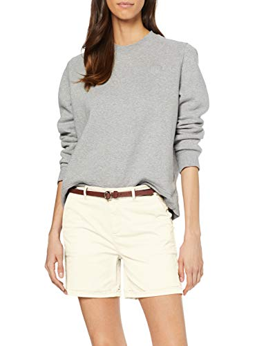 Scotch & Soda Maison Longer Length Chino Shorts, Sold with A Belt, Blanc (Antique White 0402), W28 (Taille Fabricant: 28) Femme