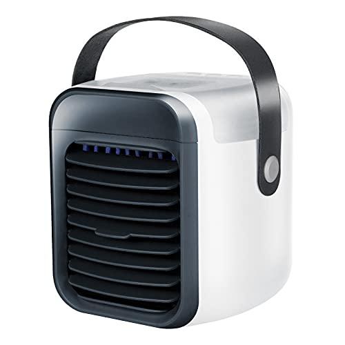 Dingsir Mini USB portátil aire acondicionado ventilador recargable oficina refrigerador humidificador y purificador para el hogar dormitorio dormitorio 3 velocidades 7 colores luz enfriador de aire