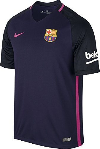 Nike Men's Barcelona 2016/2017 Away Soccer Jersey (Purple) Large