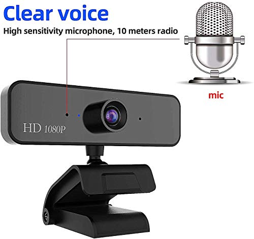 Dingtalk Live Streaming Widescreen Webcam-Suit for Microsoft Teams HD 1080p Webcam Computer Camera with Microphone,Laptop USB PC Webcam Recording Pro Video Web Camera for Conferencing Calling