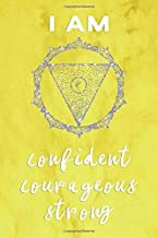 Solar Plexus Chakra Journal: I Am Confident, Courageous, Strong Manipura Yellow Symbol and Positive Affirmation Notebook 100 Page 6 x 9