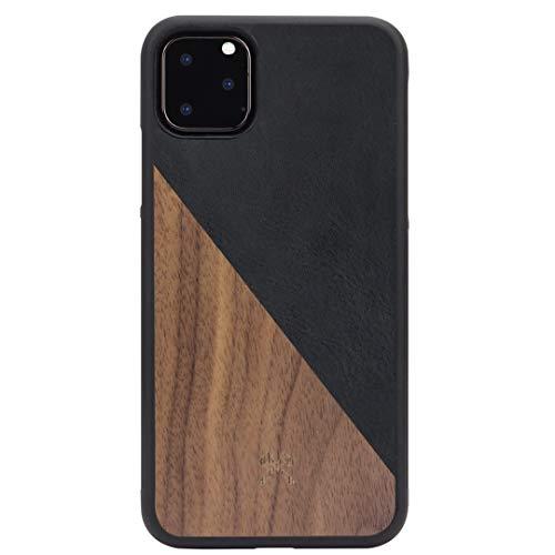 Woodcessories - Hülle kompatibel mit iPhone 11 Pro Max aus Echtholz - EcoSplit Case 2.0 (Walnuss/Schwarz)