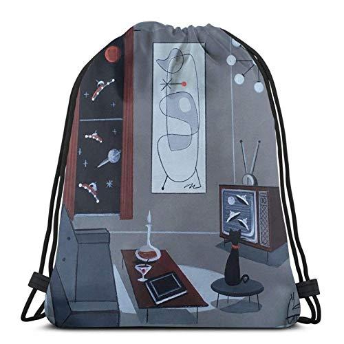 TV-Fenster Drstring Rucksack Gym Sack Pack Solid Cinch Pack Sinch Sack Sport String Bag Mit Tasche