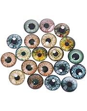 ZZALLL MINGJIE 20 Piezas muñeca de Cristal Ojos de Animales Manualidades DIY Ojo de Dinosaurio Globos oculares Accesorios fabricación de Joyas Hecho a Mano 8mm / 12mm / 18mm - 12#