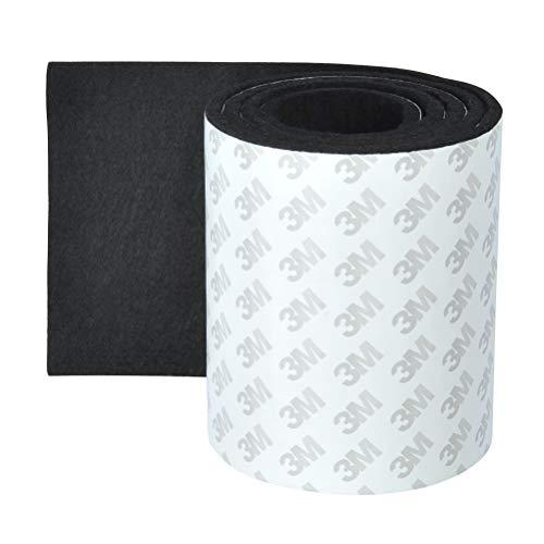 OFNMY Filzband Selbstklebend Filz Klebenband zum Zuschneiden Bodenschutz für Möbelfüße, Tischbeine(Schwarz)