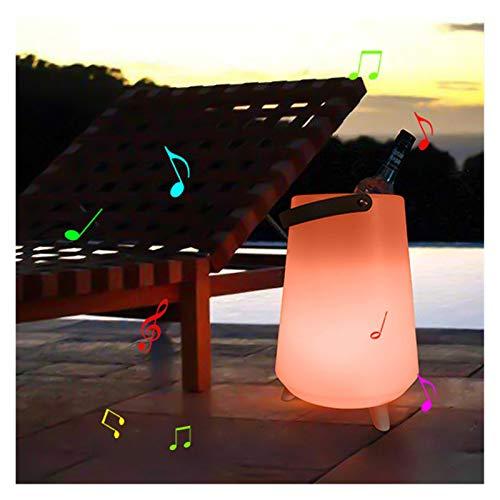YIBANG-DIANZI Cubo de Hielo LED Brillo 16 Color Conveniencia Conveniencia Handlet Dientes Azul Caja De Sonido Cubo De Hielo Barra Creativa Ajuste Al Aire Libre Ajuste para Fiestas Familiares