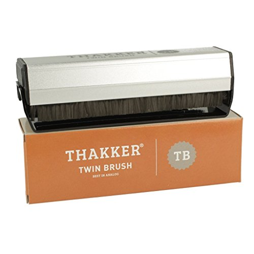 Thakker Twin Brush Super Exstatic Corbon Fibre Record Cleaning Brush