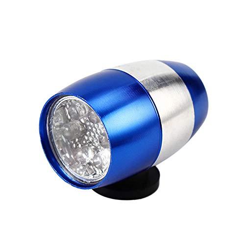 WTFYSYN Luce Posteriore per Bicicletta Facilmente, Luce per Forcella Anteriore in Alluminio, Luce di Avvertimento per Guida a LED, Luce per Birra, Blu, Faro per Bicicletta Lumens