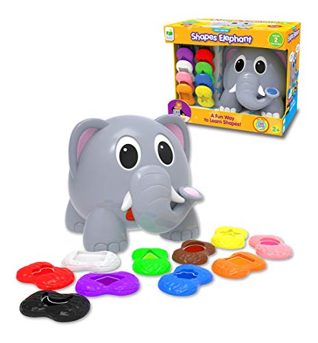 The Learning Journey Learn with Me – Shapes Elephant – Color & Shapes Teaching Toddler Toys & Gifts for Boys & Girls Ages 2 Years and Up – Preschool Learning Toy