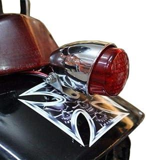 L/ámpara de freno redonda de 10 cm para CB Sportster Bobber Cruiser Chopper XL Rat Vintage Retro Hot Rod Duo Cafe Racer