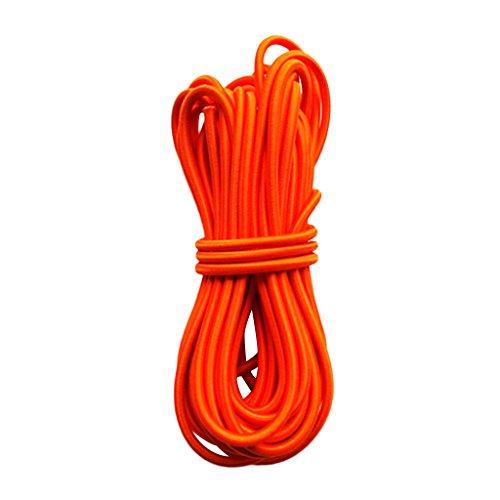 Homyl 6mm High Strength Orange Durable Strong Elastic Stretch Rubber Shock Cord Tie Down Marine Boat Caravan Bungee Rope 1m-50m - 10m