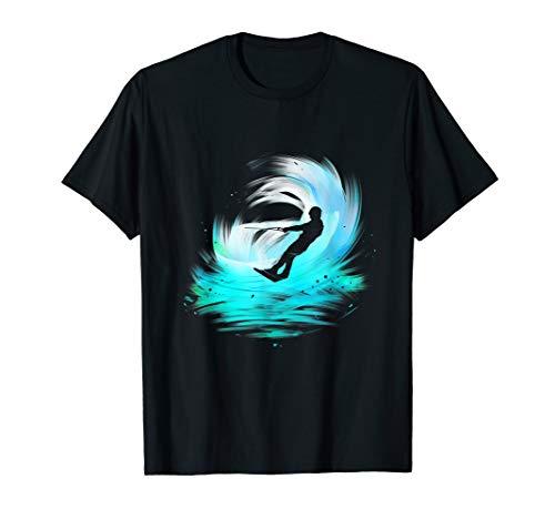 Wakeboarding Wellen Wakeboarder Wassersport Geschenk T-Shirt