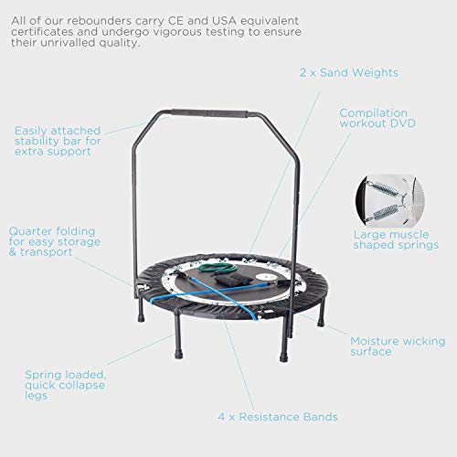 MaXimus-PRO-Folding-Rebounder-Voted-1-Indoor-Mini-Exercise-Trampoline-For-Adults-With-Bar-Best-Home-Gym-for-Fitness-Lose-Weight-FREE-Storage-Bag-Resistance-Bands-Awesome-ONLINE-DVD-Workouts-Pro-Trampe