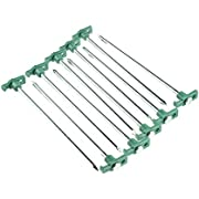 SE Heavy-Duty Metal Tent Pegs Stake Set (10-Pack) - 9NRC10
