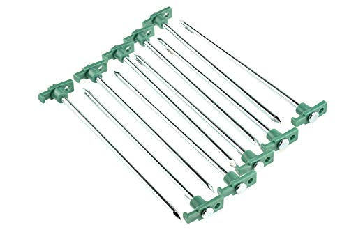 SE Heavy-Duty Metal Tent Pegs Stake Set (10-Pack) -...