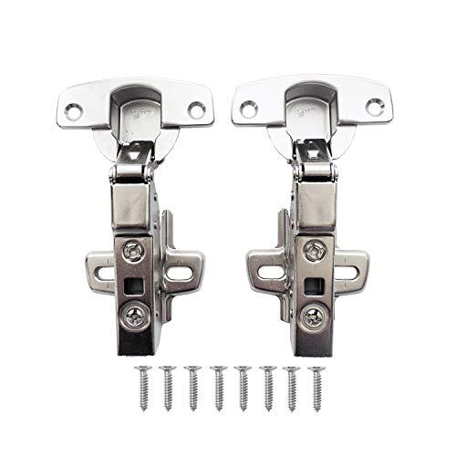 Hettich Sensys 8645i TH52 110 Grad Mittelanschlag Standard Scharnier 9071206 mit Selbstschluss Dämpfung Mechanismus für Küchenschrank Schrank Scharniere Halb Vorliegend Automatikscharnier 2 Stück