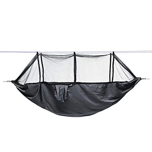 Ai-lir Fácil de Cargar Afuera Twofold 2 Personas Hamaca Camping Tienda Colgando Columpio con mosquitera Ligero y Duradero (Color : Dark Grey)