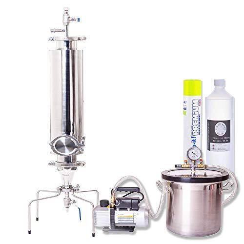 Tubo de chorro abierto de extracción de acero inoxidable APOLLO 500 - Extractor de columna cerrada presurizada para trabajo pesado para aceites esenciales