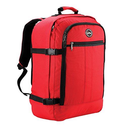 Cabin Max Handgepäck Rucksack 44 Liter - Leichtgewicht Reiserucksack für das Flugzeug Bordgepäck 55x40x20 cm - Robuster & praktischer Backpack - Hochwertiger Kabinenkoffer (Rot)