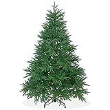 DekoLand Künstlicher Weihnachtsbaum Deluxe 180 cm in Premium Spritzguss Qualität, grüne Nordmanntanne, Tannenbaum mit PE Kunststoff Nadeln
