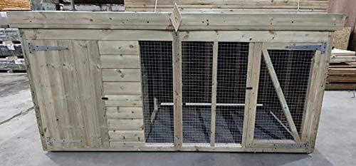 Total Sheds 10ft x 4ft Dog Kennel & Run Fast & Free Delivery