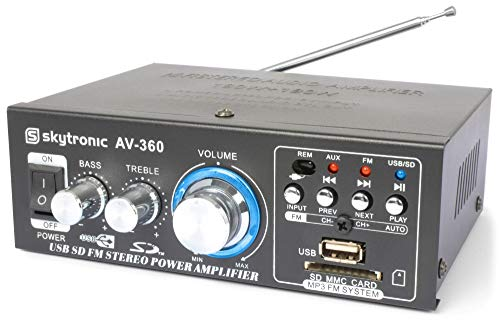 SkyTronic AV360 USB/MP3 Versterker met Afstandsbedening