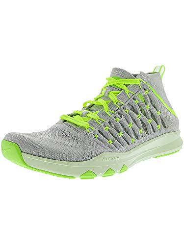 Nike Men's Train Ultrafast Flyknit Pure Platinum/Volt - Ghost Green Tint Ankle-High Fabric Running Shoe 8M