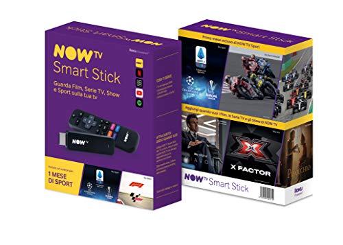 NOW TV Smart Stick con il primo mese di Sport incluso   Chiavetta streaming   TV