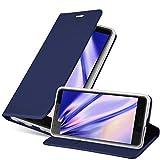 Cadorabo Funda Libro para HTC U Ultra en Classy Azul Oscuro - Cubierta Proteccíon con Cierre Magnético, Tarjetero y Función de Suporte - Etui Case Cover Carcasa