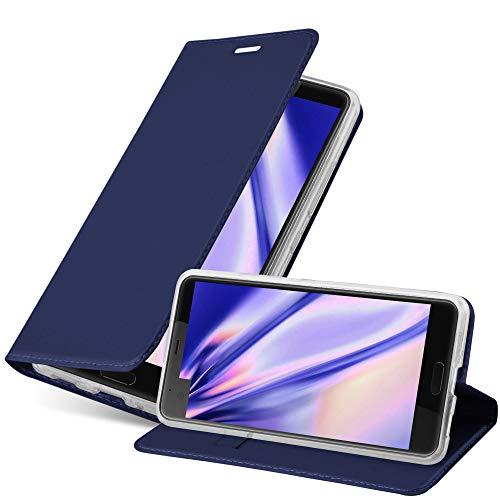 Cadorabo Coque pour HTC U Ultra en Classy Bleu FONCÉ - Housse Protection avec Fermoire Magnétique, Stand Horizontal et Fente Carte - Portefeuille Etui Poche Folio Case Cover