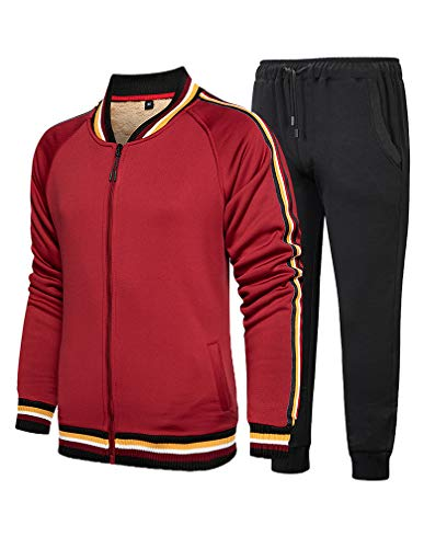 Lavnis Mens Casual Tracksuit T Shirts and Shorts Running Jogging Athletic Sports Set XL