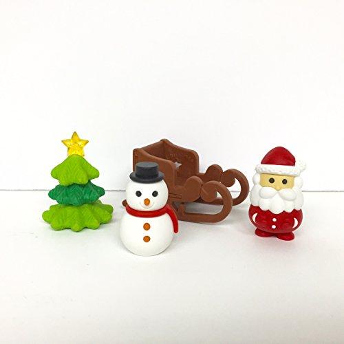 IWAKO 4 piezas del árbol de navidad del muñeco de Santa Claus en trineo japoneses Borradores de Japón