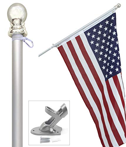 Tangle-free US flag pole kit
