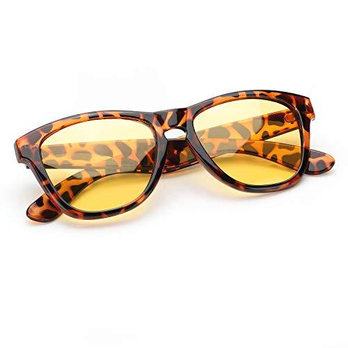 SIPHEW Nachtfahrbrille für Frauen Polarisierte Nachtsichtbrille für Nachtfahrten HD Yellow Lens Reducing Blend