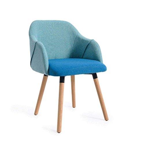 Stoelen moderne minimalistische massief hout bureaustoel | Amerikaanse bureaustoel | Deck stoel decoratie van het huis,Blauw