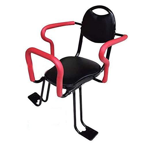 wangt kinderveilige drager, duurzaam achterste fietszitje van de baby, kinderonderstel, baby-peuter-zit-fietsendrager met rugleuning-voetpedalen