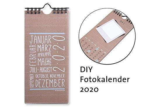 Kalender 2020 Bastelkalender Foto DIY selbermachen Selfie retro