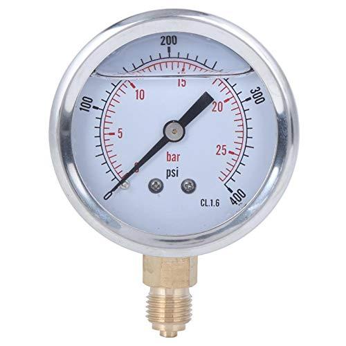 Medidor de presión de aceite profesional resistente a la corrosión duradero 1/4BSP Y60 con rango 0-25bar 0-400psi para petróleo