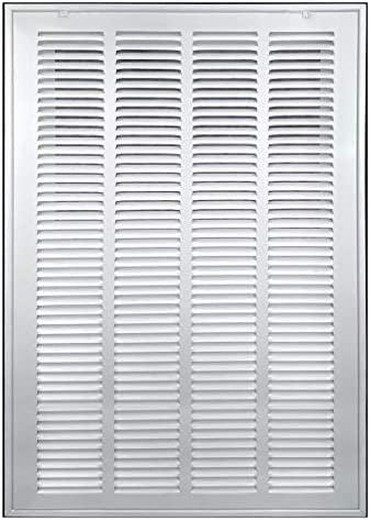20 X 25 Steel Return Air Filter Grille Removable Face Door for 1 inch Filters HVAC Duct Cover product image