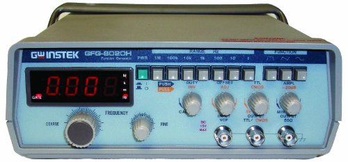 GW Instek GFG-8020H Function Generator with 4 Digits LED Display, TTL/CMOS Output, 0.2Hz to 2MHz Frequency Range