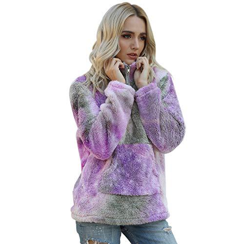 Jywmsc Mujer Sudadera Caliente y Esponjoso Tops Chaqueta Suéter Abrigo Jersey Mujer...