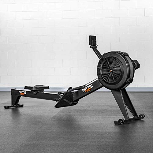 METIS FURY Rowing Machine | Home Gym Workout | Fitness & Cardio With Adjustable Resistance Levels | Air Rower Machine - Foldable Design & Clear Display