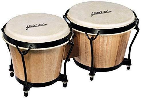 Modfash muziek mensen TEAK hout Bongos (Lak gepolijst) met Bongo Jute tas & tuner