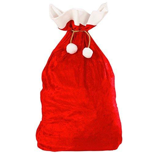 NET TOYS Weihnachtsmannsack Deluxe Jutesack rot Gabensack Geschenksack Weihnachtsmann Nikolaus Sack Kostüm Accessoire