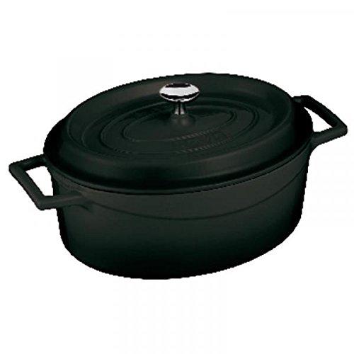 Ovale pan Cm 25 zwart